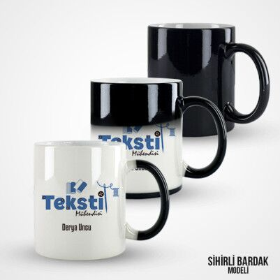 Tekstil Mühendisine Hediye Kupa Bardak - Thumbnail