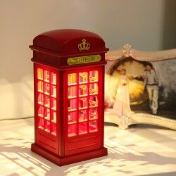 Telefon Kulübesi Dokunmatik Gece Lambası - Thumbnail