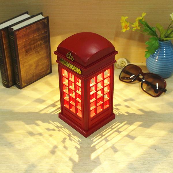 Telefon Kulübesi Dokunmatik Gece Lambası