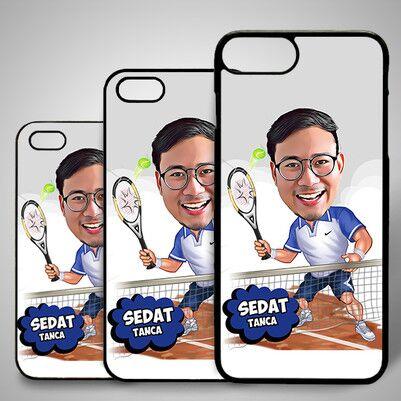 - Tenis Oyuncusu Karikatürlü Iphone Kapak