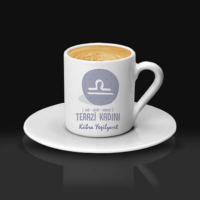 Terazi Burcu Kadınına Hediye Kahve Fincanı - Thumbnail