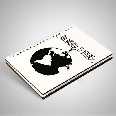 The World Is Yours Motto Defter - Thumbnail