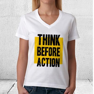 Think Before Action Tişört - Thumbnail