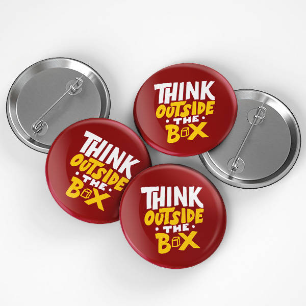 Think Outside The Box Buton Rozet