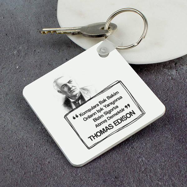 Thomas Edison Esprili Anahtarlık