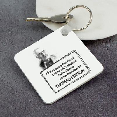 - Thomas Edison Esprili Anahtarlık