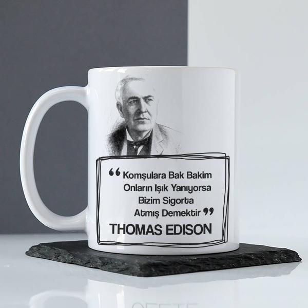 Thomas Edison Esprili Kupa Bardak