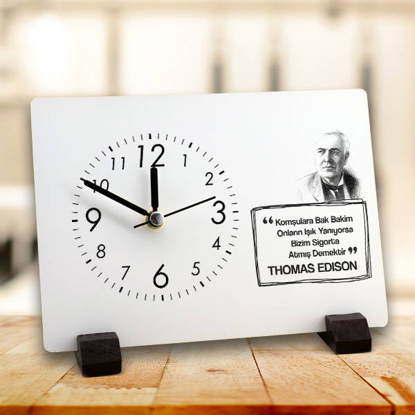 Thomas Edison Esprili Masa Saati