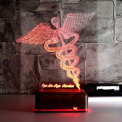 - TIP Logolu 3 Boyutlu LED Lamba