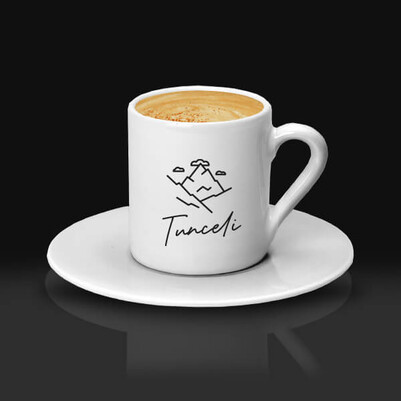 - Tunceli Temalı Kahve Fincanı
