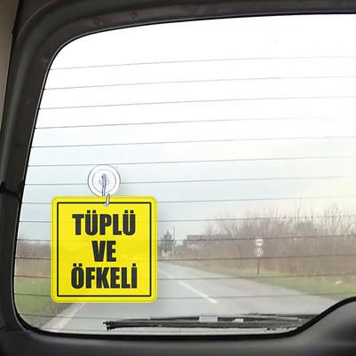 Tüplü ve Öfkeli Oto Cam Süsü - Thumbnail
