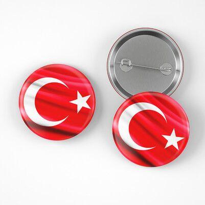- Türk Bayrağı İğneli Buton Rozet
