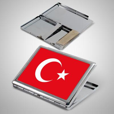 - Türk Bayrağı Metal Sigara Tabakası