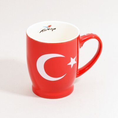 Türk Bayrağı Temalı Kupa Bardak - Thumbnail