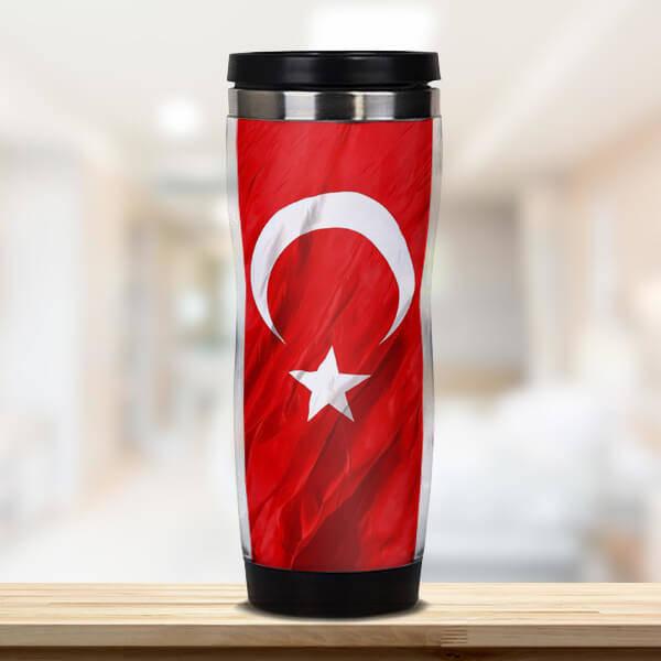 Türk Bayrağı Termos Bardak
