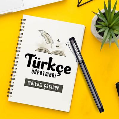 - Türkçe Öğretmeni Temalı Defter ve Kalem