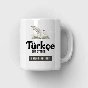- Türkçe Öğretmeni Temalı Kupa Bardak