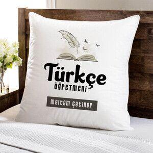 - Türkçe Öğretmeni Temalı Yastık