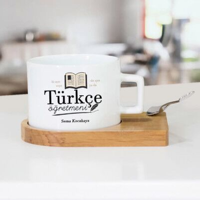 - Türkçe Öğretmenine Hediye Çay Fincanı