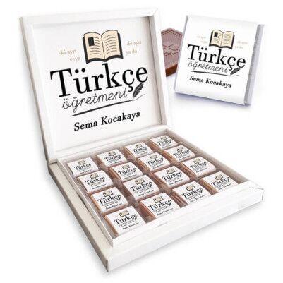 - Türkçe Öğretmenine Hediye Çikolata Kutusu