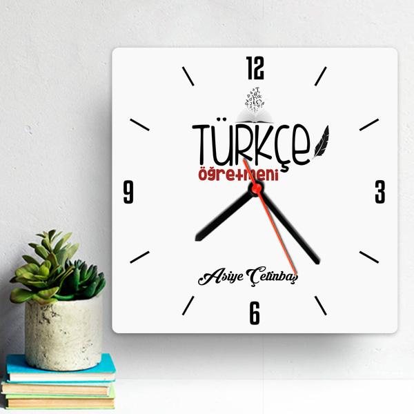 Türkçe Öğretmenine Hediye Duvar Saati