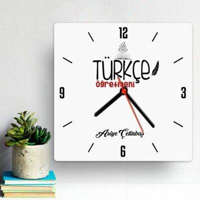 - Türkçe Öğretmenine Hediye Duvar Saati