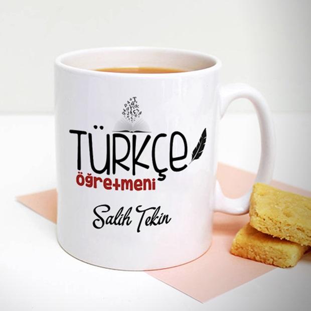 Türkçe Öğretmenine Hediye Kupa Bardak