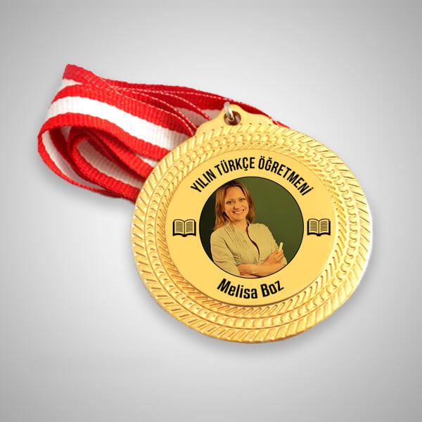 Türkçe Öğretmenine Hediye Madalyon