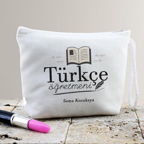 Türkçe Öğretmenine Hediye Makyaj Çantası