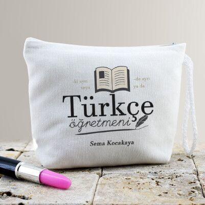 - Türkçe Öğretmenine Hediye Makyaj Çantası