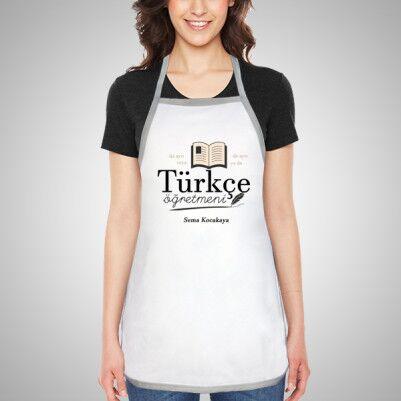 Türkçe Öğretmenine Hediye Mutfak Önlüğü - Thumbnail