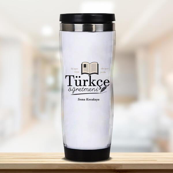 Türkçe Öğretmenine Hediye Termos Bardak