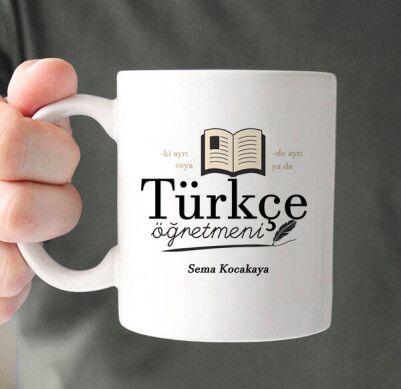 - Türkçe Öğretmenlerine Hediye Kupa Bardak
