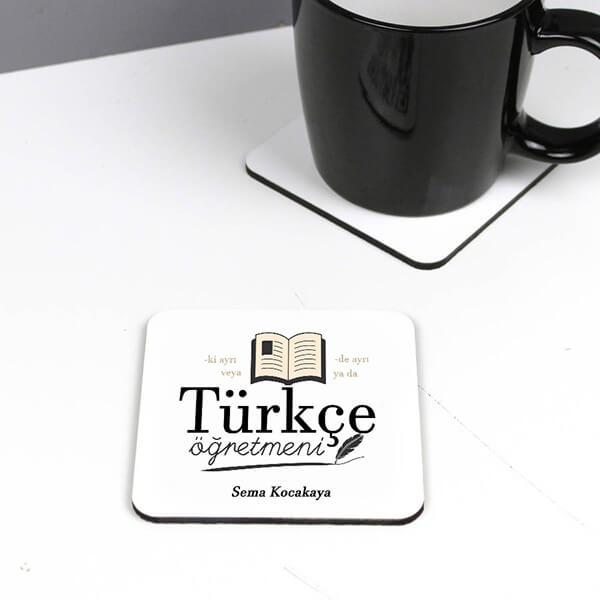 Türkçe Öğretmenlerine Özel Bardak Altlığı