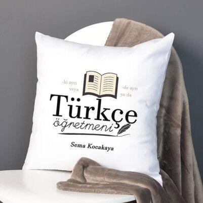 - Türkçe Öğretmenlerine Özel Hediye Yastık