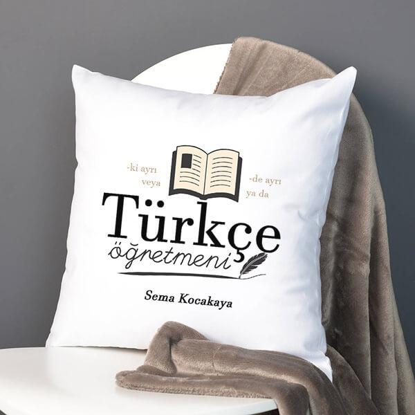 Türkçe Öğretmenlerine Özel Hediye Yastık