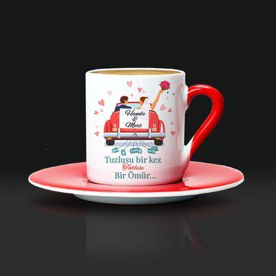 Tuzlusu Bir Kez Tatlısı Bir Ömür Kahve Fincanı - Thumbnail