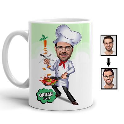 - Usta Aşçı Karikatürlü Kupa Bardak
