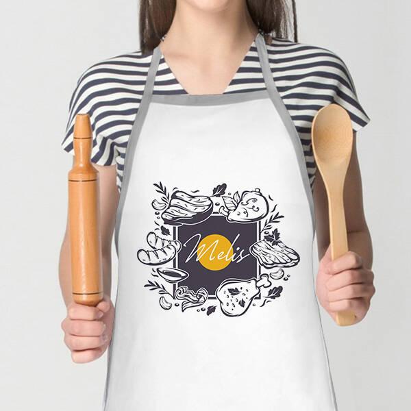 Usta Aşçı Tasarım Mutfak Önlüğü