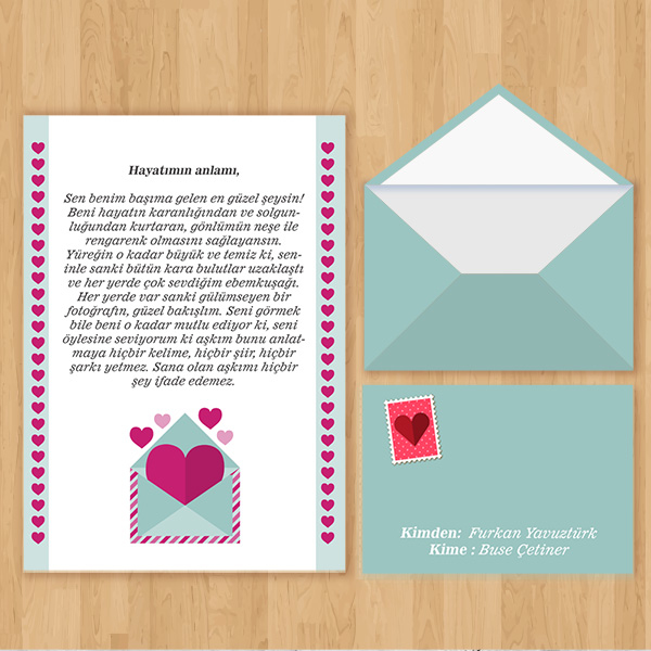 Uzaktaki Sevgiliye Aşk Mektubu