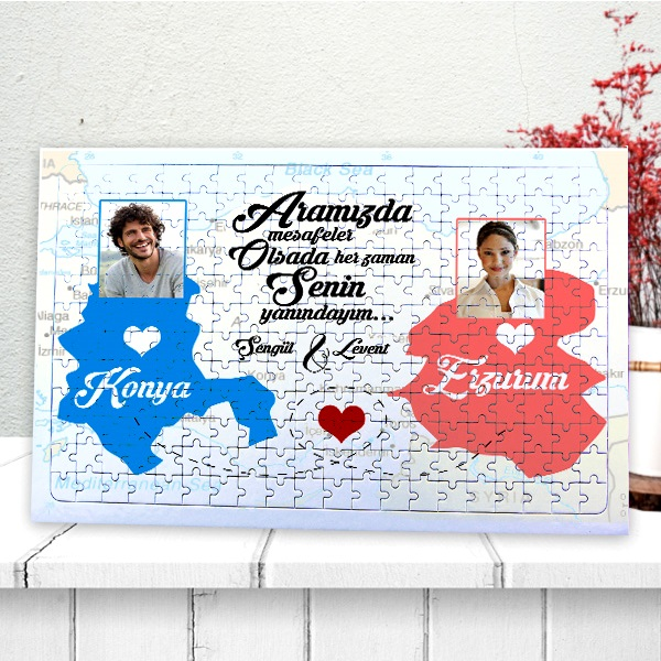 Uzaktaki Sevgiliye Özel 240 Parça Puzzle