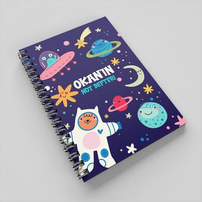 - Uzay Temalı Çocuklara Özel Defter