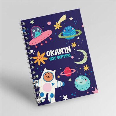 Uzay Temalı Çocuklara Özel Defter - Thumbnail