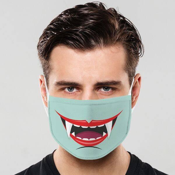 Vampir Ağzı Yıkanabilir Ağız Maskesi