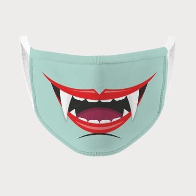 Vampir Ağzı Yıkanabilir Ağız Maskesi - Thumbnail