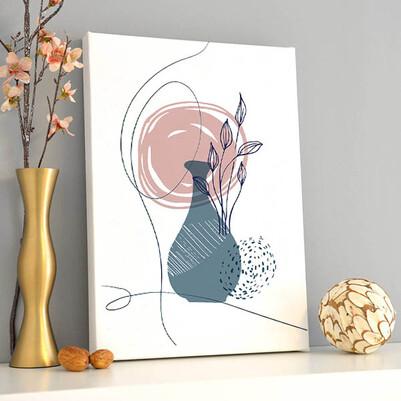 - Vase Tasarım Sanatsal Kanvas Tablo