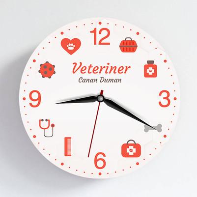 - Veterinere Hediye Duvar Saati