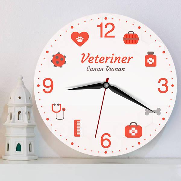 Veterinere Hediye Duvar Saati