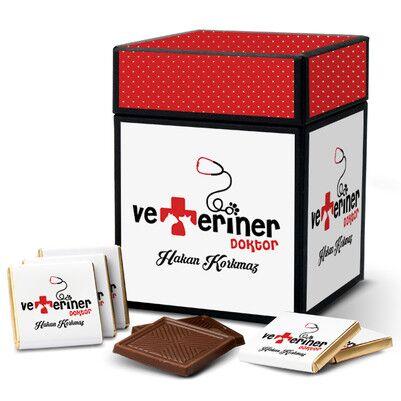 Veterinerlere Özel Çikolata Kutusu - Thumbnail