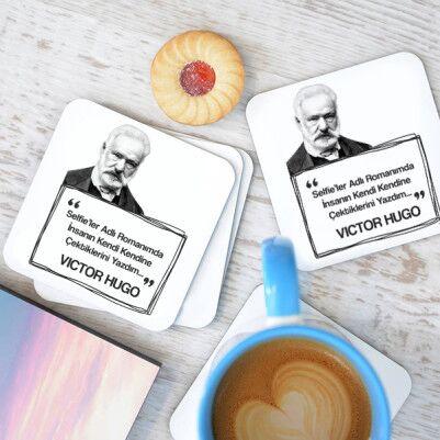 - Victor Hugo Esprili Bardak Altlığı Seti